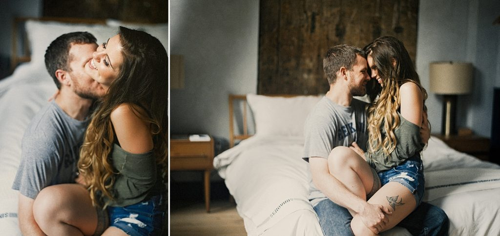 intimate engagement shoot