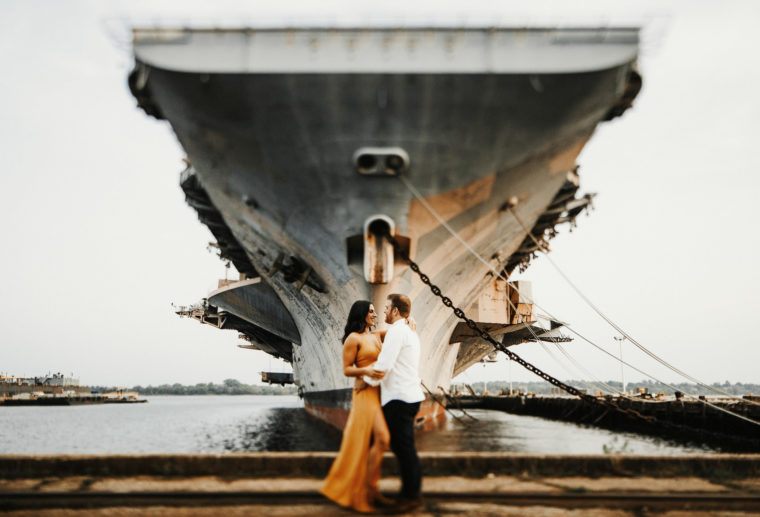 navy ship yard engagement