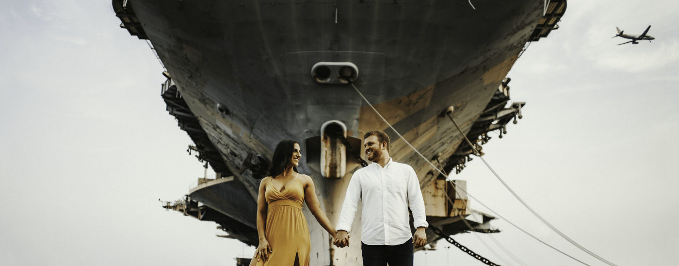 Navy Ship Yard Engagement | Gina & Anthony
