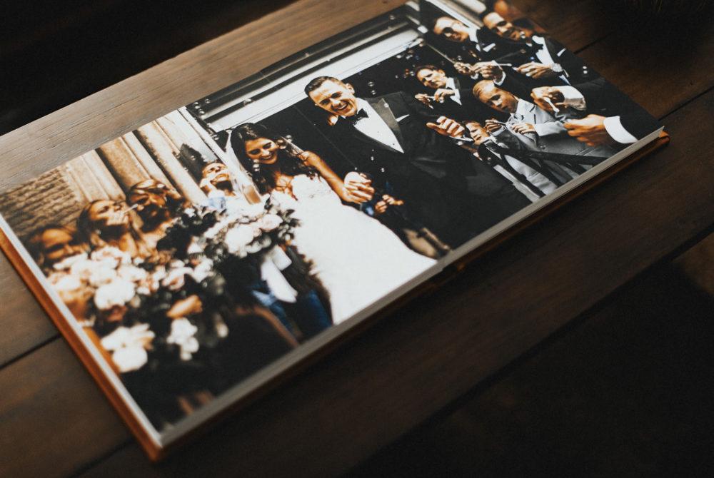 full spread wedding album
