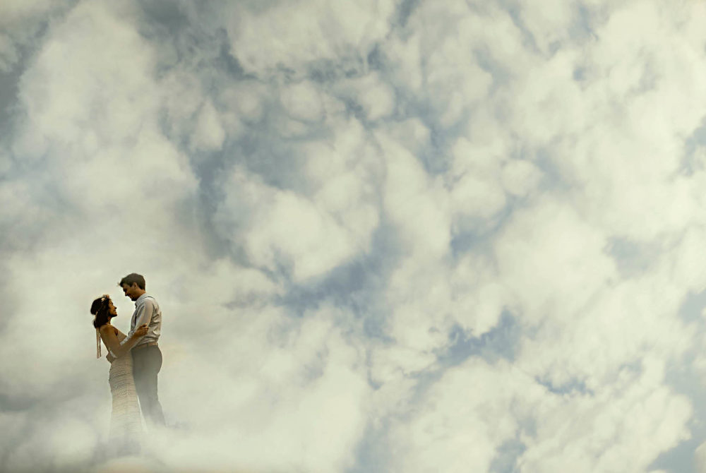 A Walk In the Clouds wedding photo
