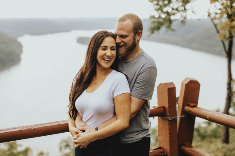 Pinnacle Overlook Engagement Session