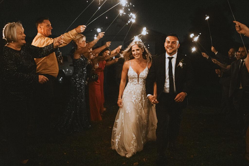 Farm Wedding Sparklers